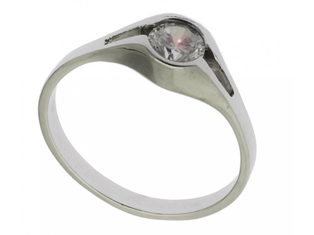 Prsten z bílého zlata G603