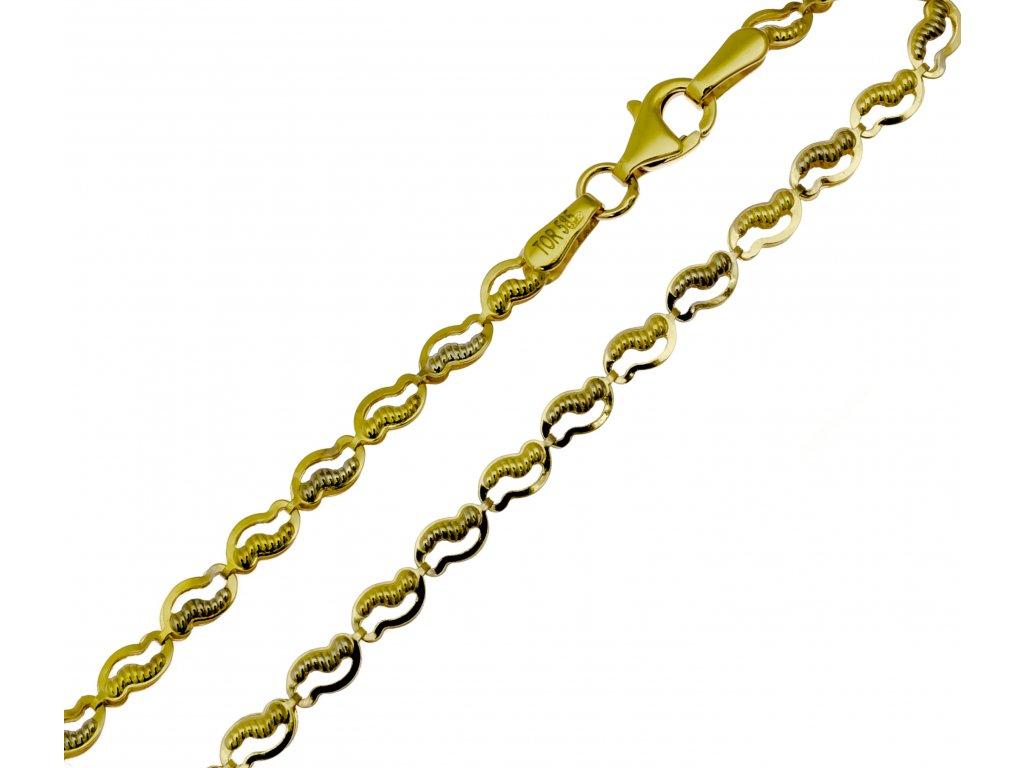 Náramek ze žlutého zlata D468