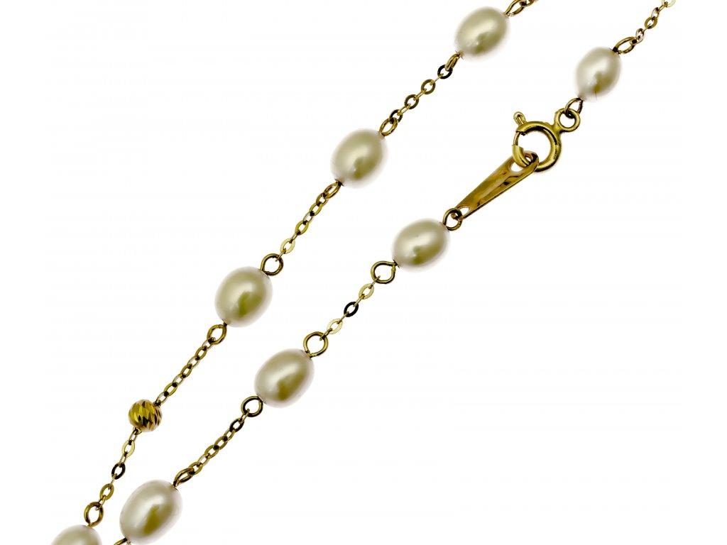 Náramek ze žlutého zlata D471