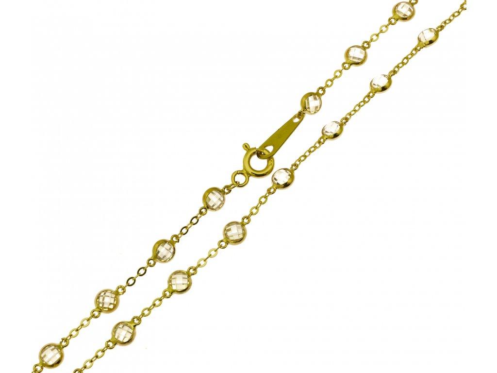 Zlatý řetízek K173