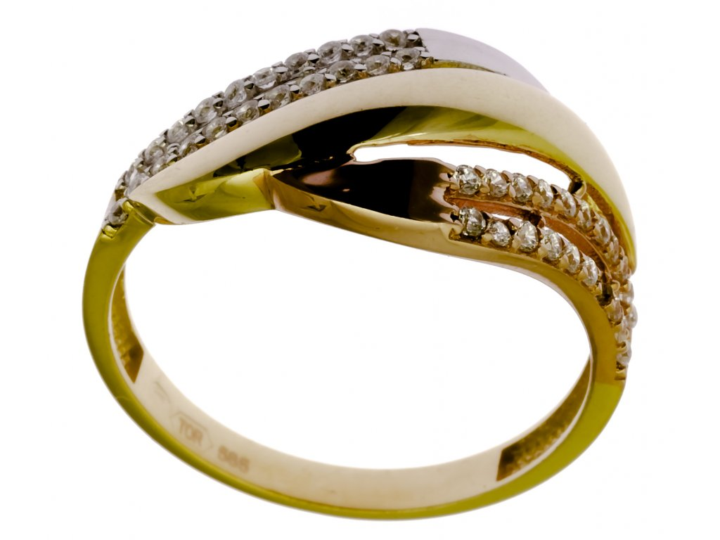 Prsten ze žlutého zlata G899