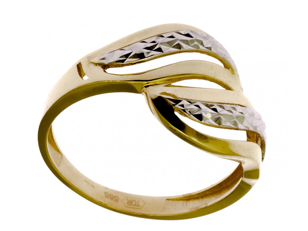 Prsten ze žlutého zlata G900
