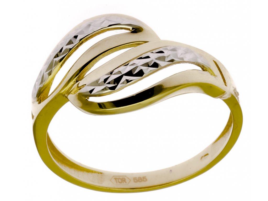 Prsten ze žlutého zlata G901