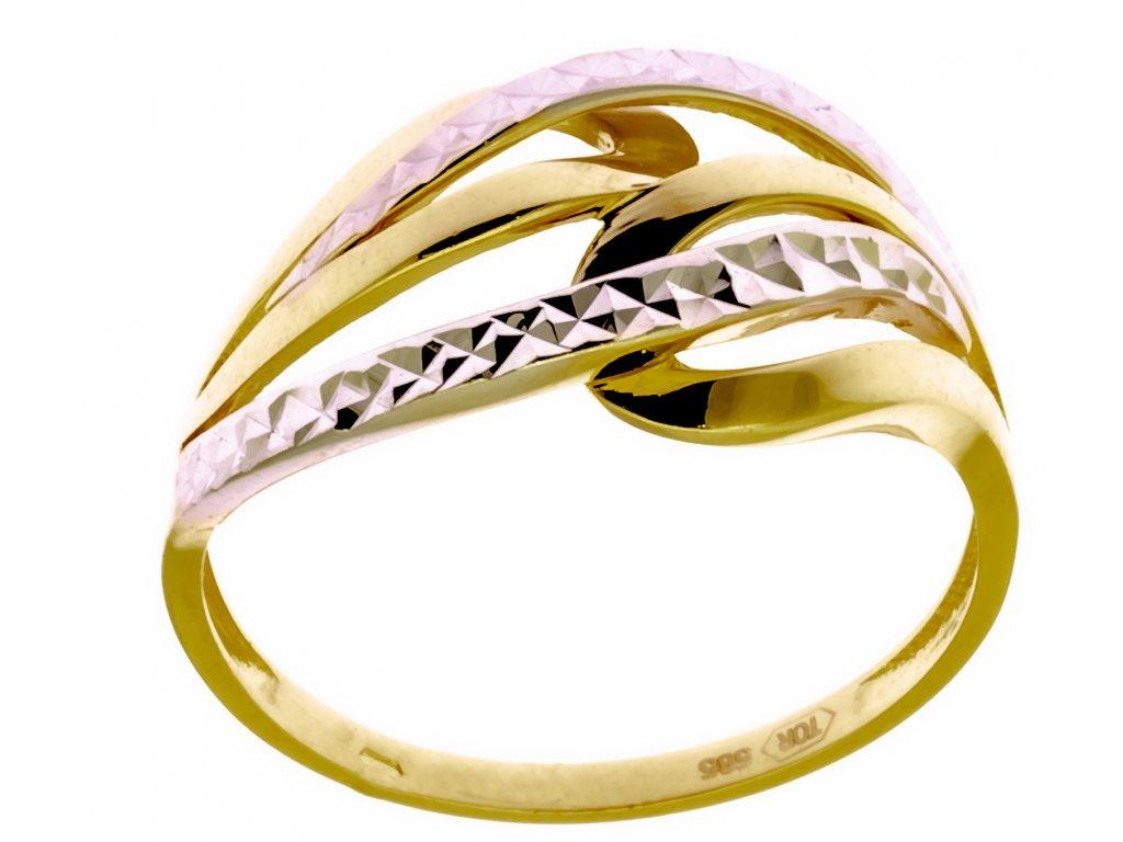 Prsten ze žlutého zlata G903