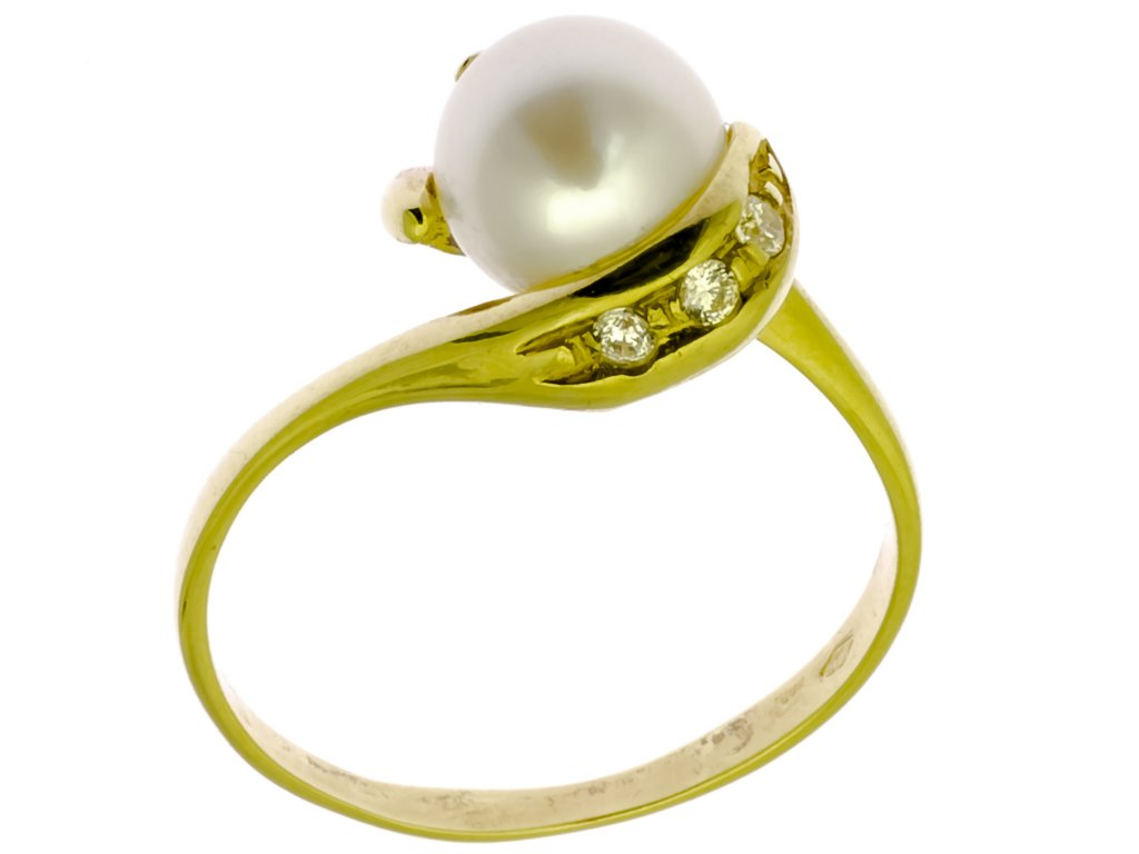 Prsten ze žlutého zlata G904