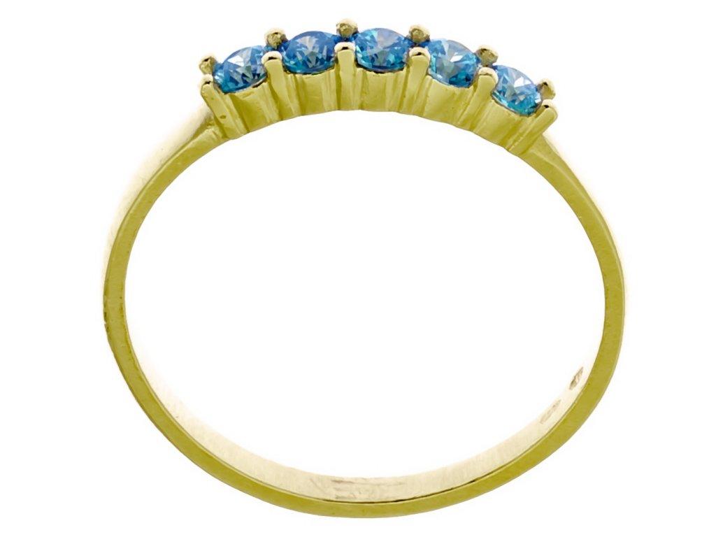 Prsten ze žlutého zlata G905