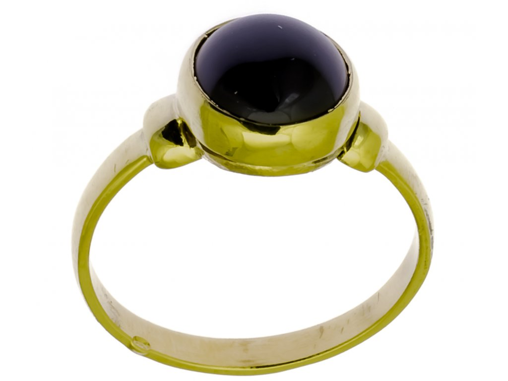 Prsten ze žlutého zlata G907