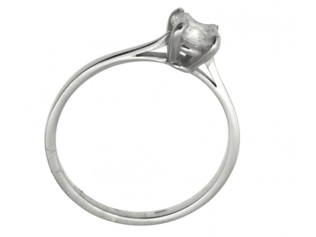 Prsten z bílého zlata G918