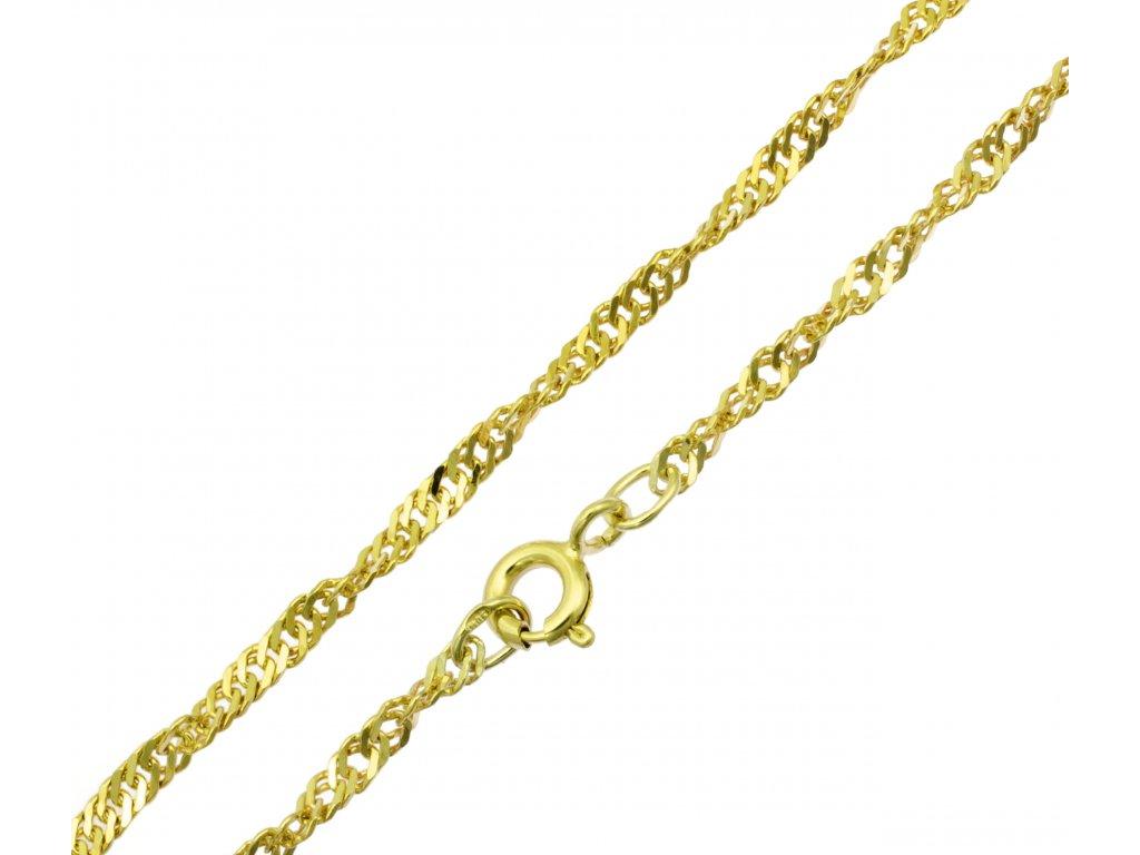 Náramek ze žlutého zlata D477