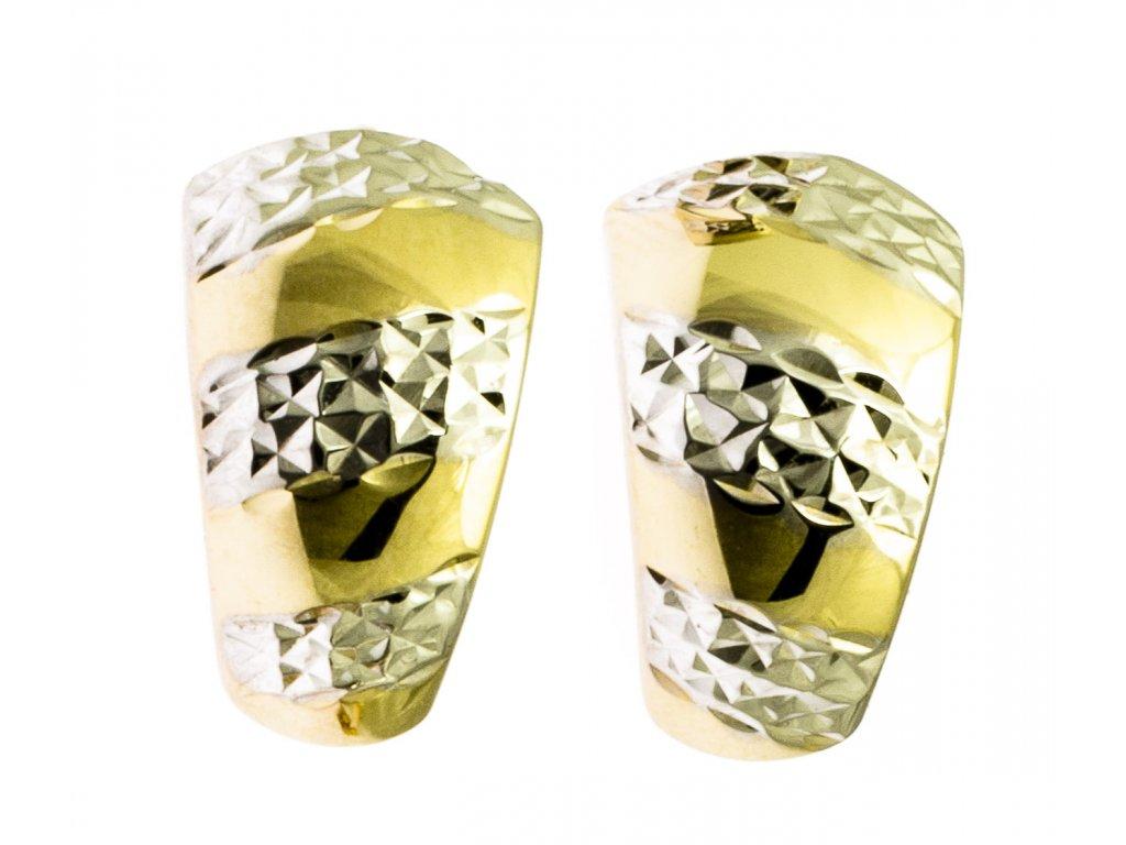 Náušnice ze žlutého zlata N008