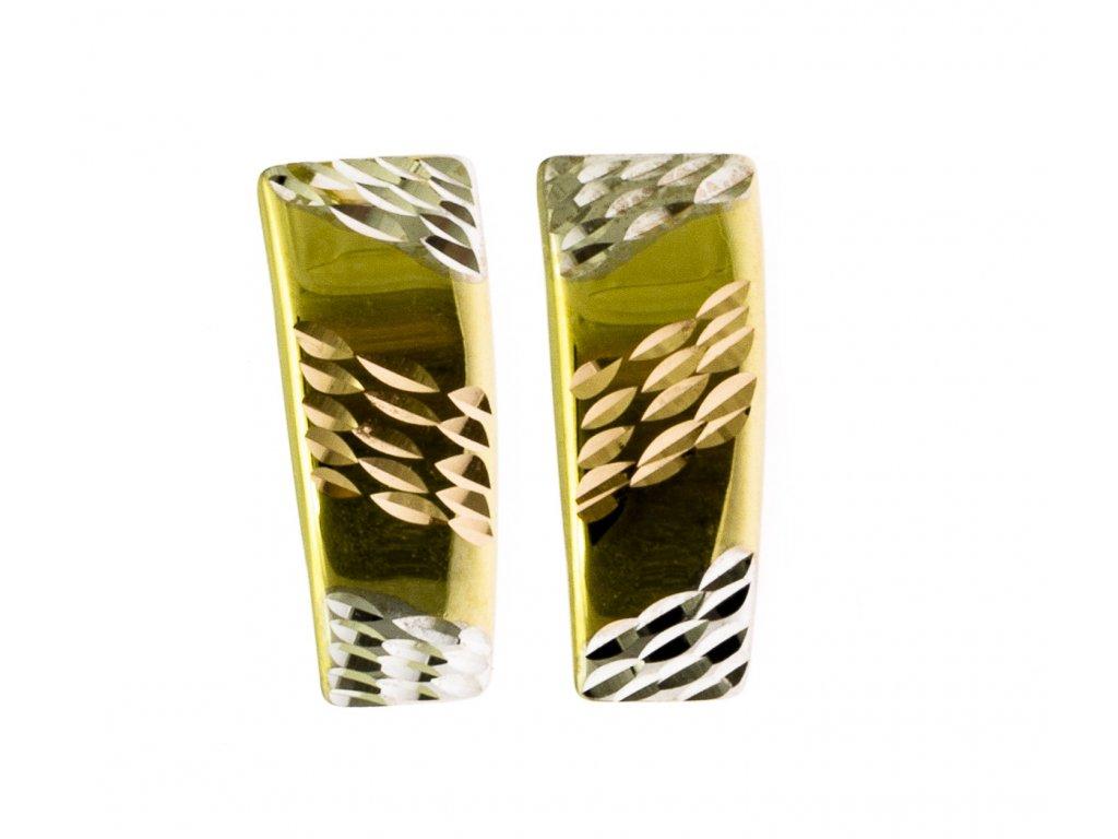 Náušnice ze žlutého zlata N001