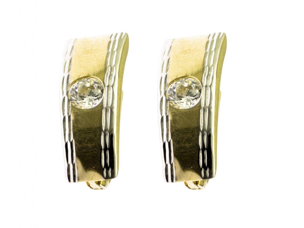 Náušnice ze žlutého zlata N005