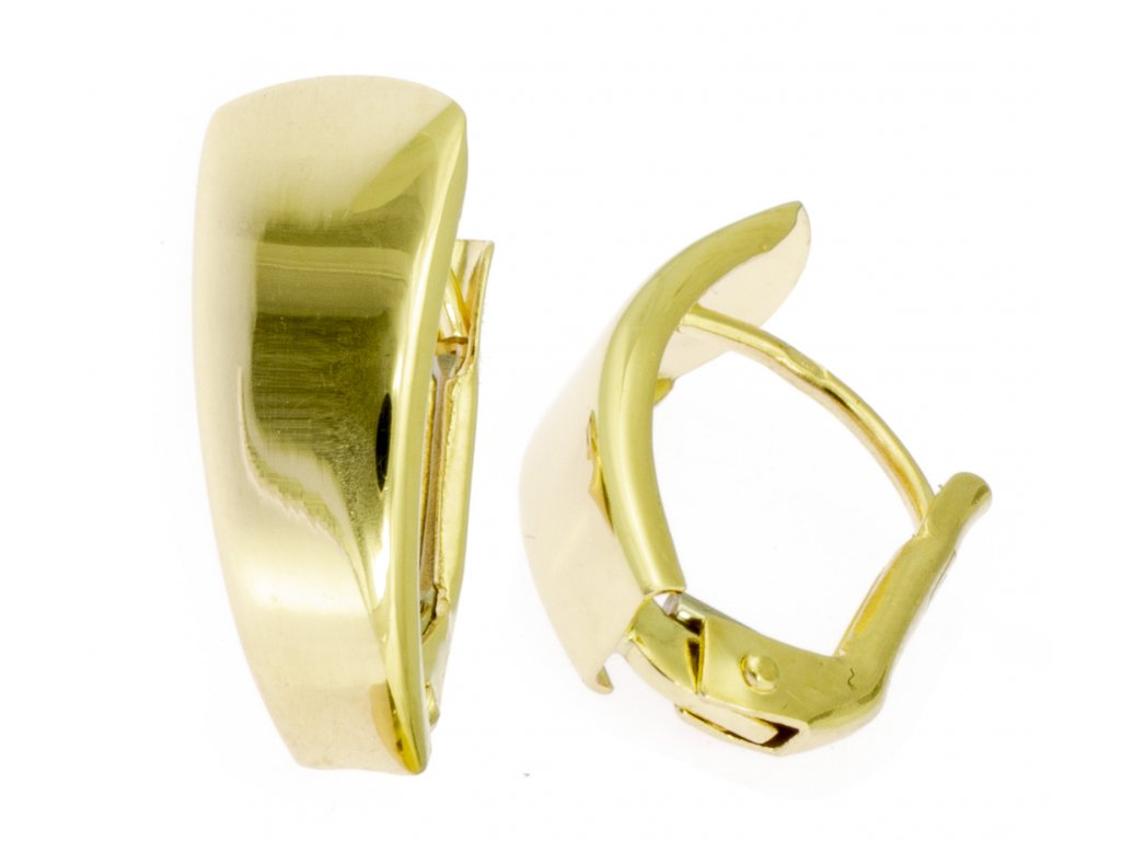 Náušnice ze žlutého zlata N043