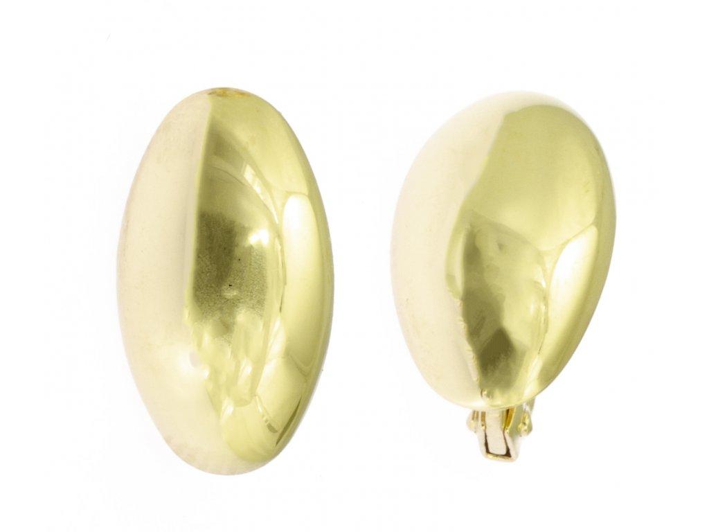 Náušnice ze žlutého zlata N033