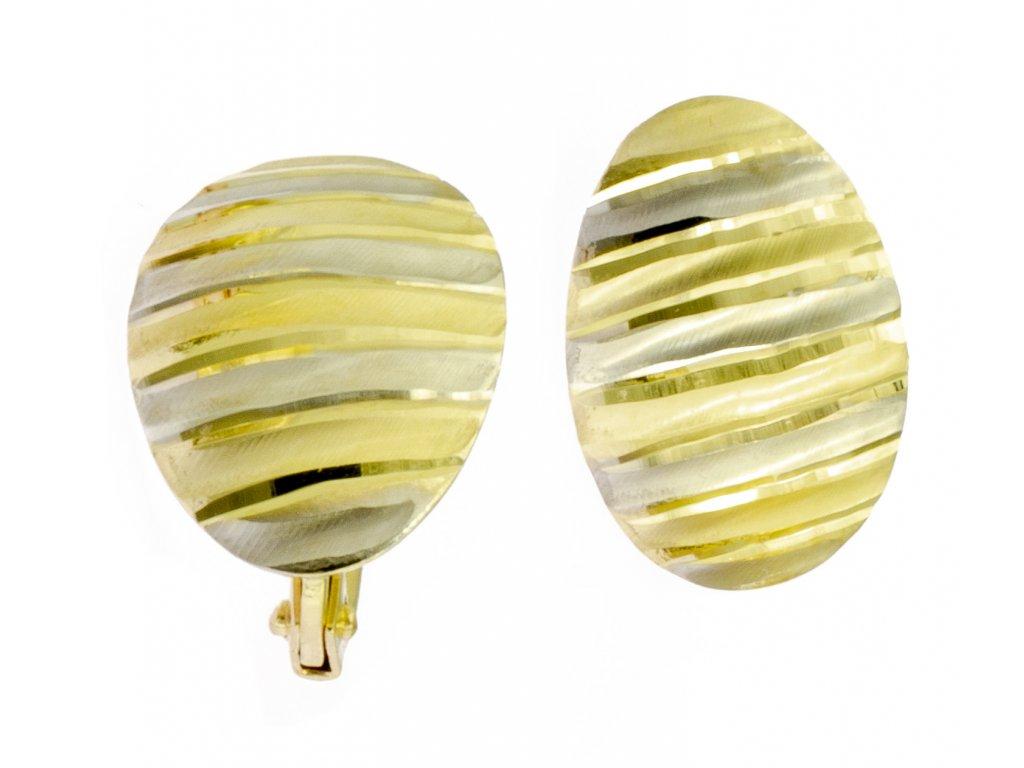 Náušnice ze žlutého zlata N046
