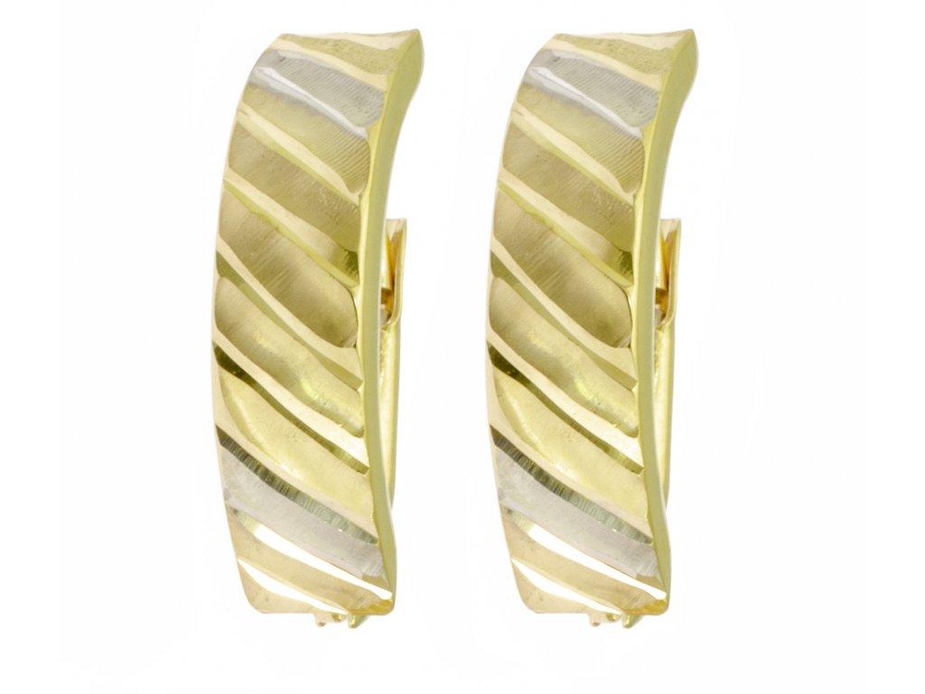 Náušnice ze žlutého zlata N047