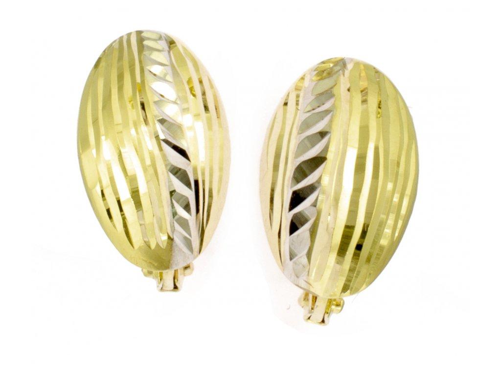 Náušnice ze žlutého zlata N056