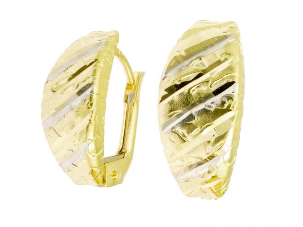 Náušnice ze žlutého zlata N034