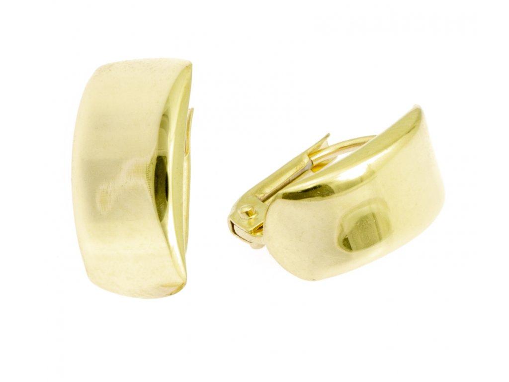 Náušnice ze žlutého zlata N036