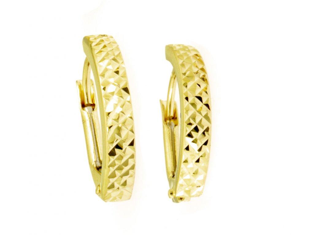 Náušnice ze žlutého zlata N048
