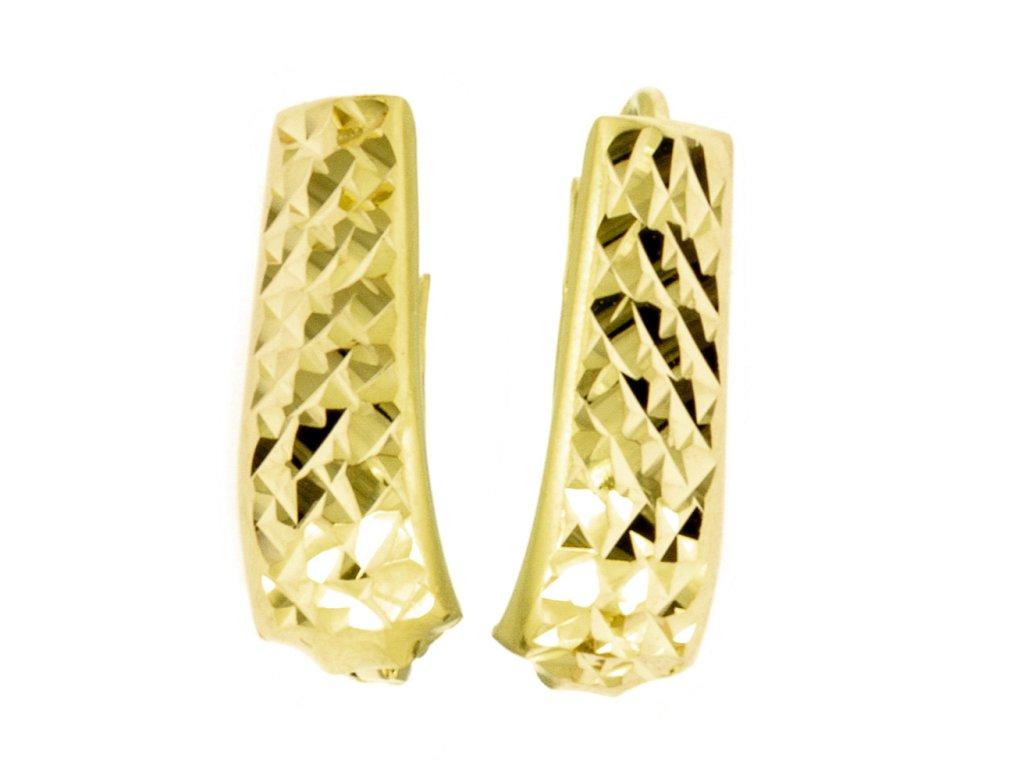 Náušnice ze žlutého zlata N038