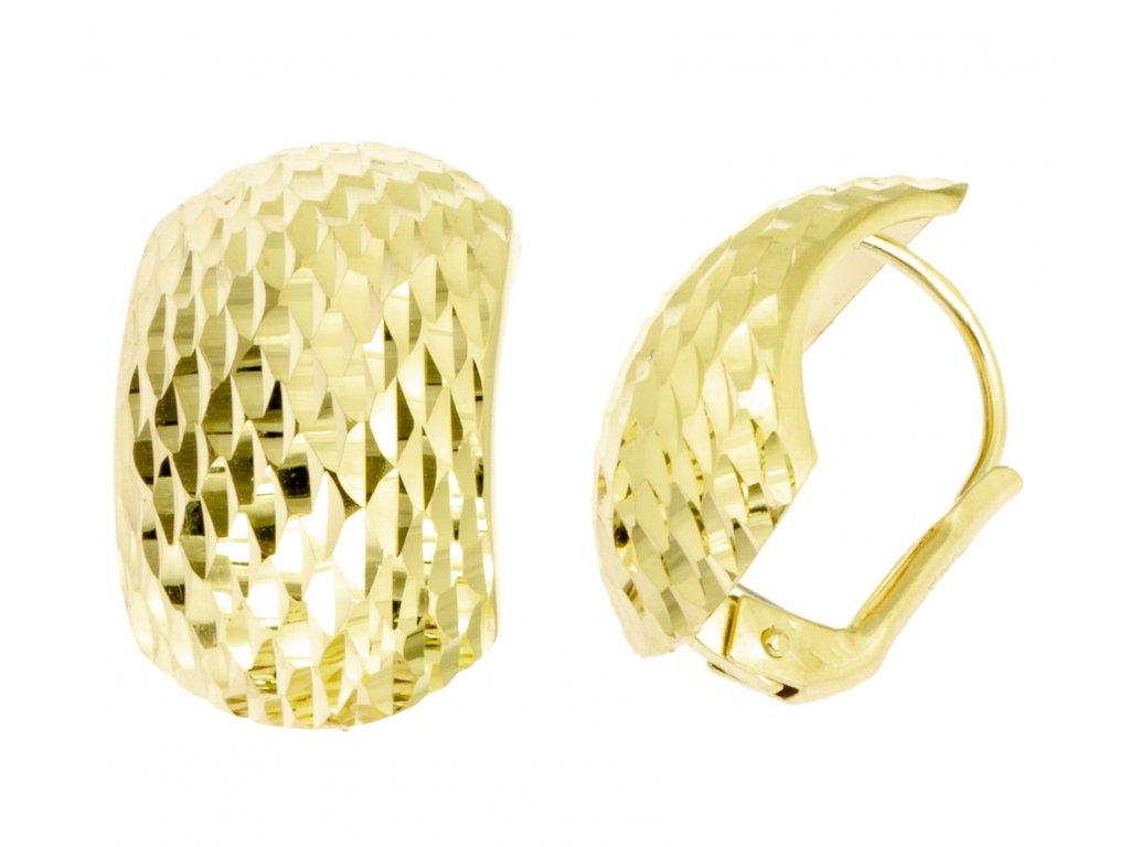 Náušnice ze žlutého zlata N037