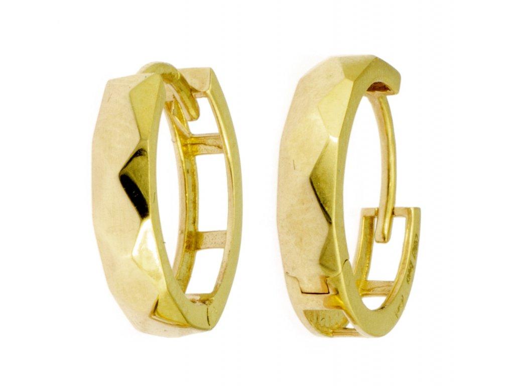Náušnice ze žlutého zlata N049