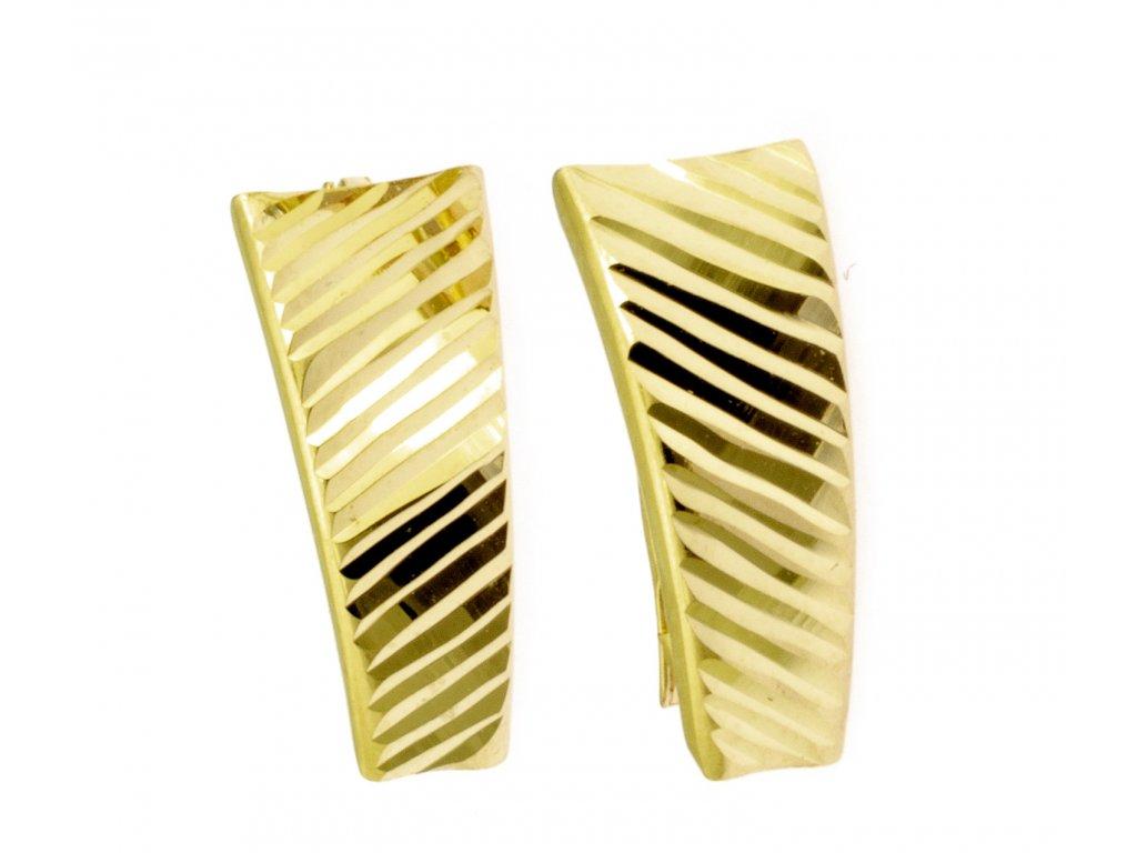 Náušnice ze žlutého zlata N054