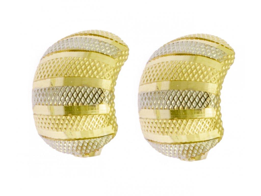 Náušnice ze žlutého zlata N045