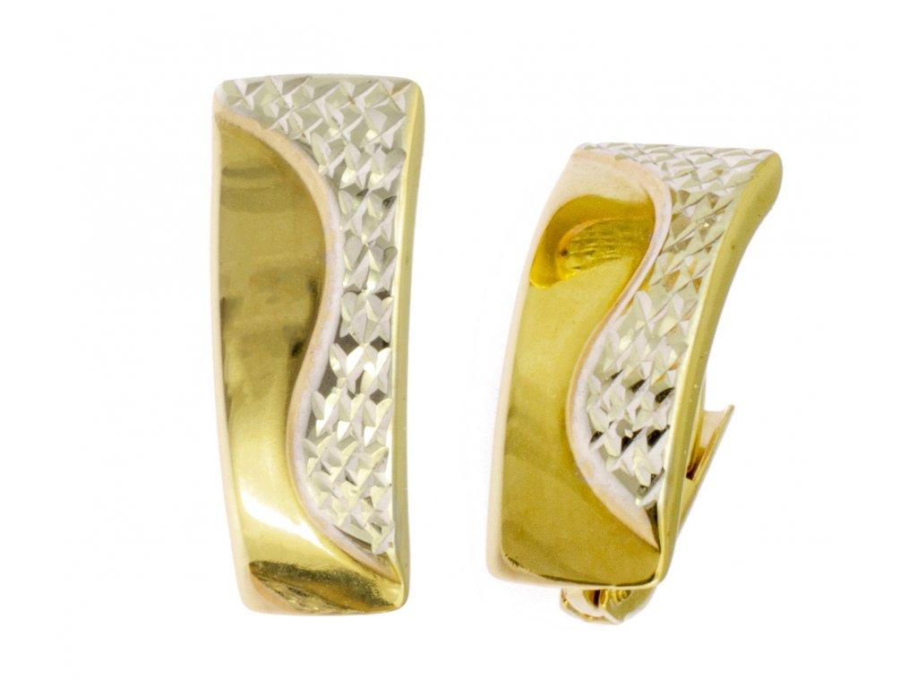 Náušnice ze žlutého zlata N002