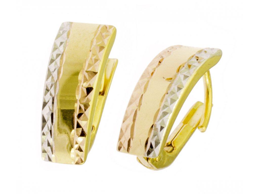 Náušnice ze žlutého zlata N007