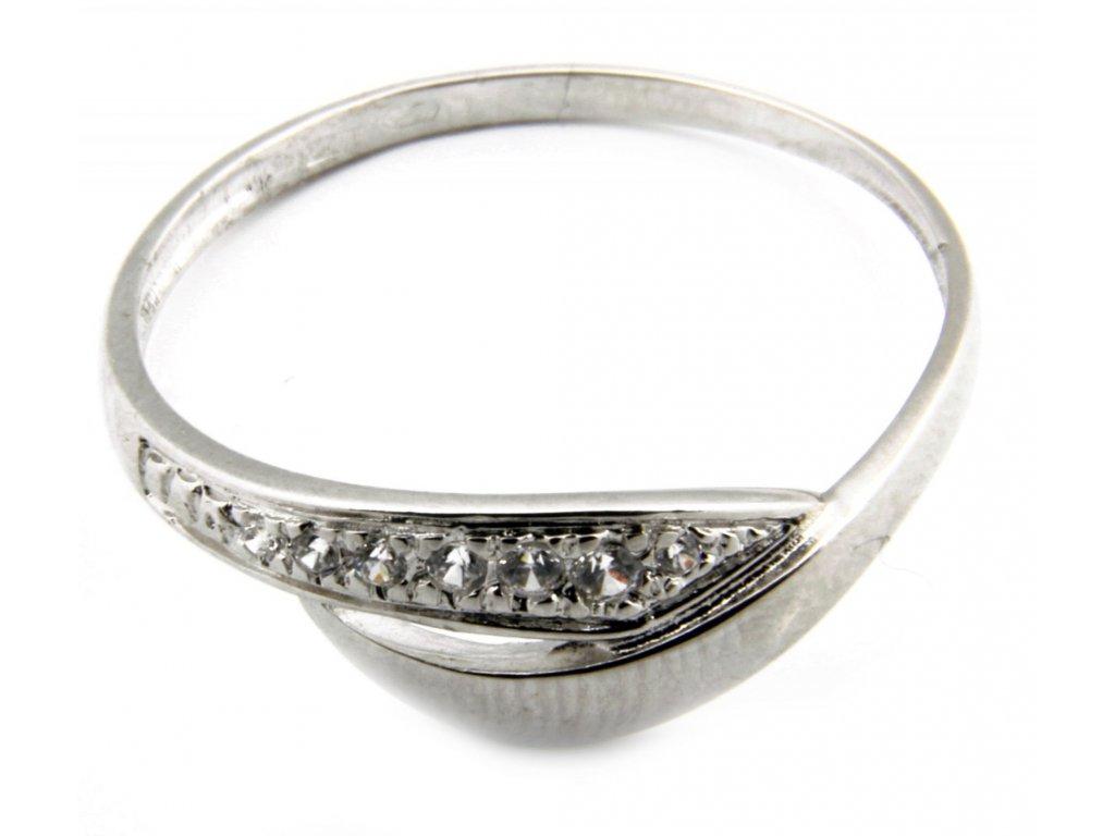 Prsten z bílého zlata  G038