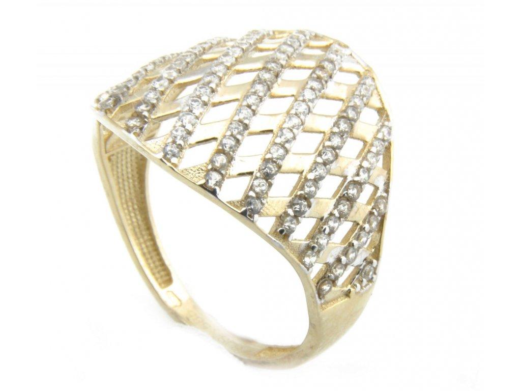 Prsten ze žlutého zlata G010
