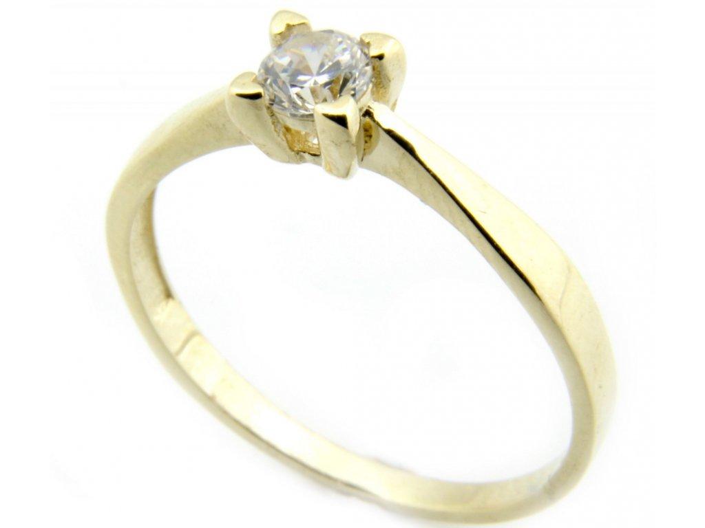 Prsten ze žlutého zlata G027