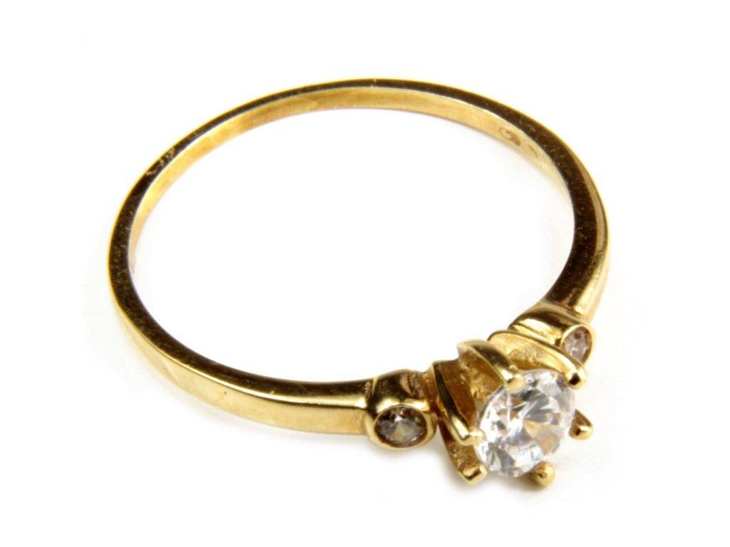 Prsten ze žlutého zlata G406