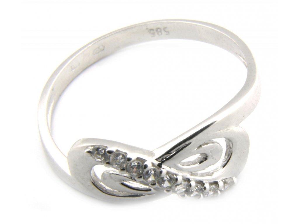 Prsten z bílého zlata  G059