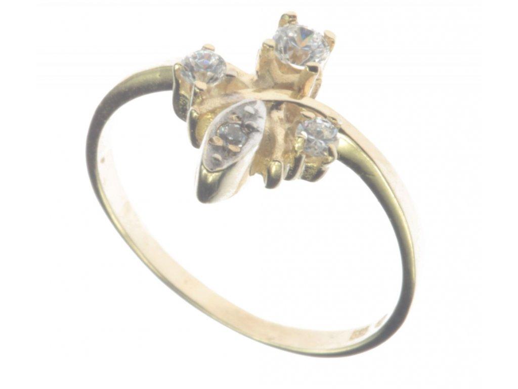 Prsten ze žlutého zlata  G435