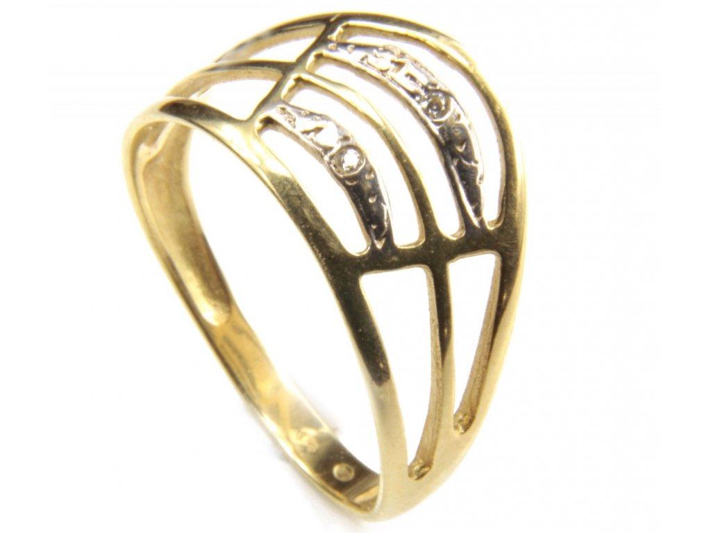 Prsten ze žlutého zlata G417