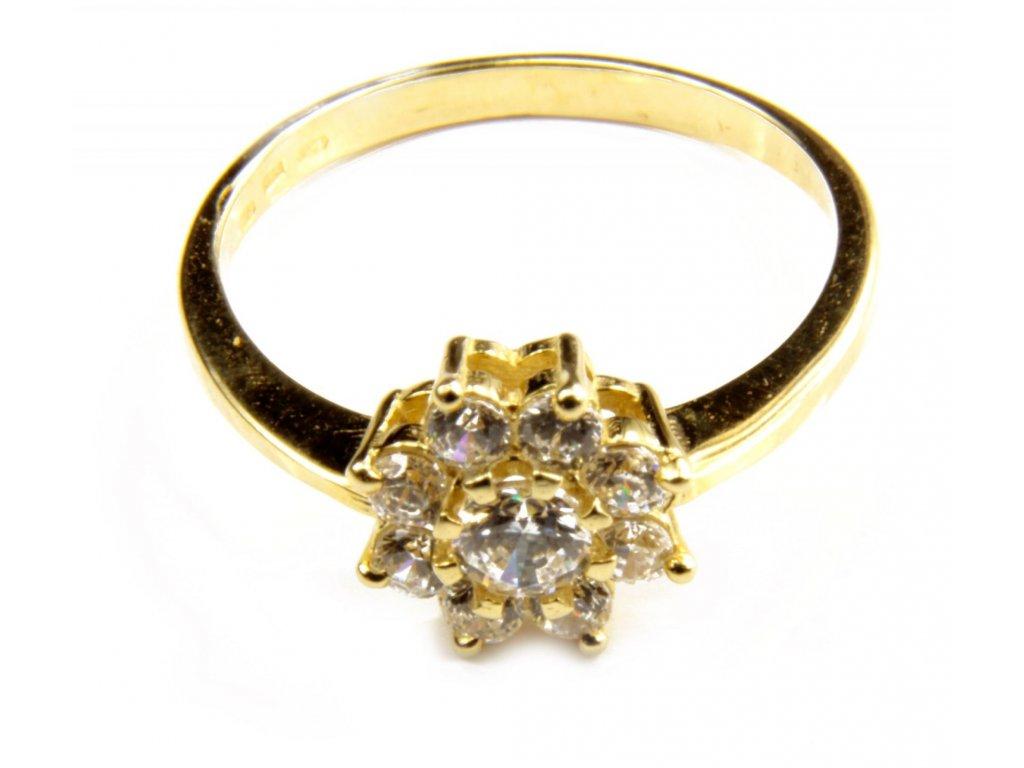 Prsten ze žlutého zlata  G441