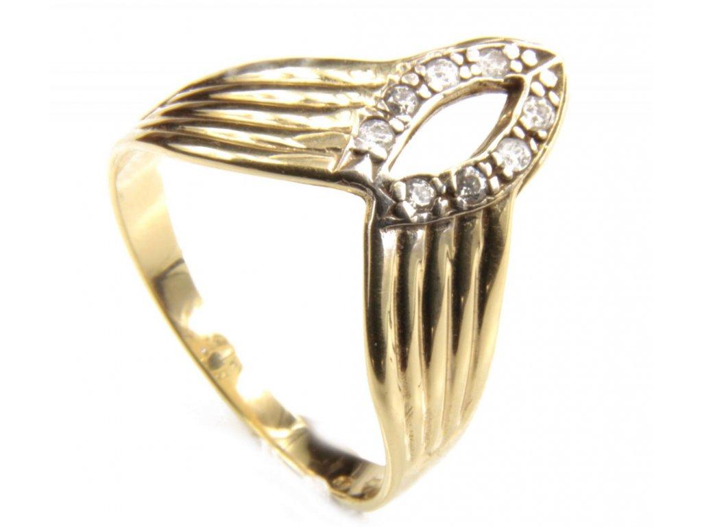 Prsten ze žlutého zlata G416