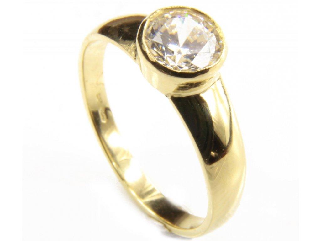 Prsten ze žlutého zlata  G443