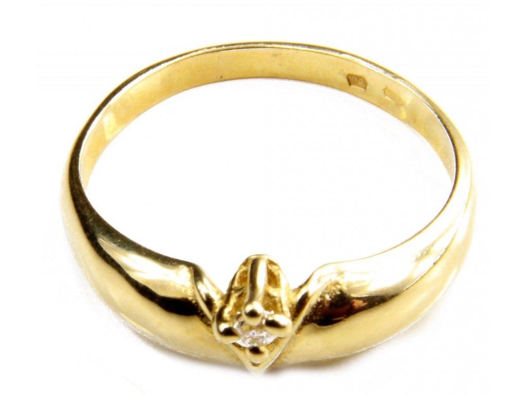 Prsten ze žlutého zlata G414
