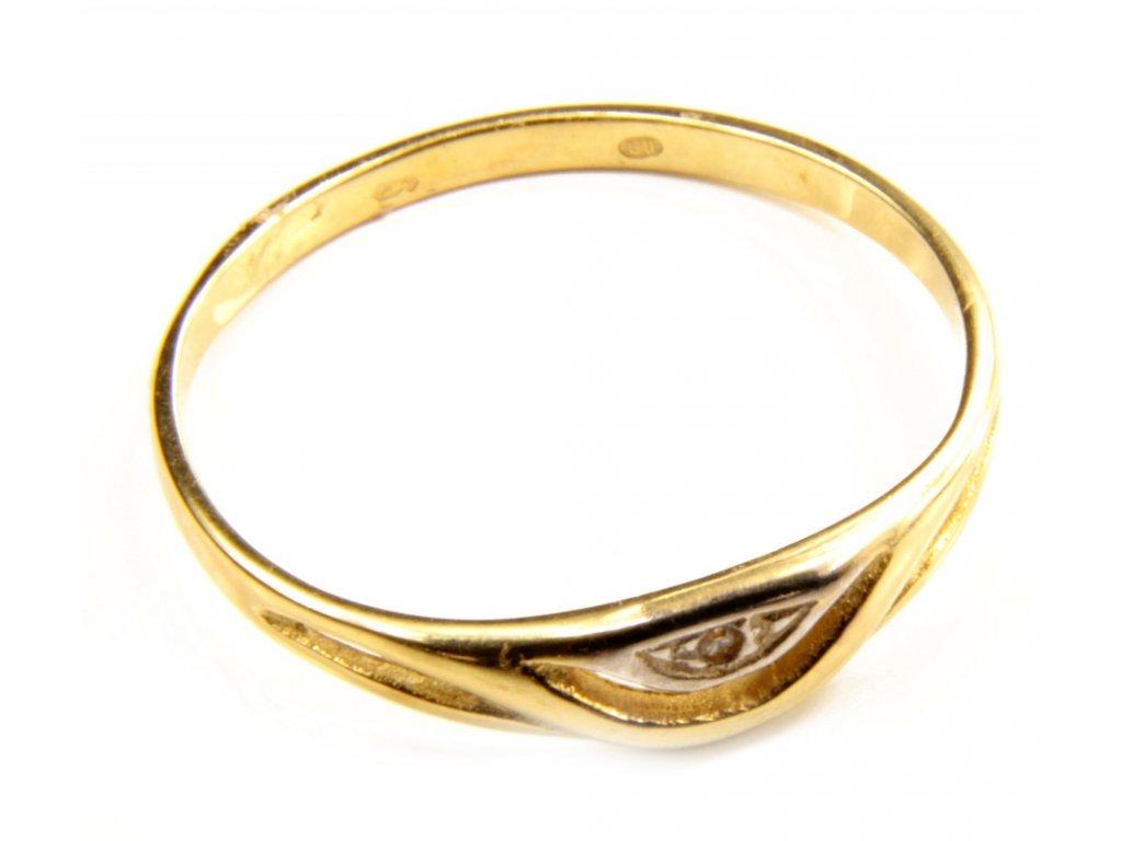 Prsten ze žlutého zlata G393