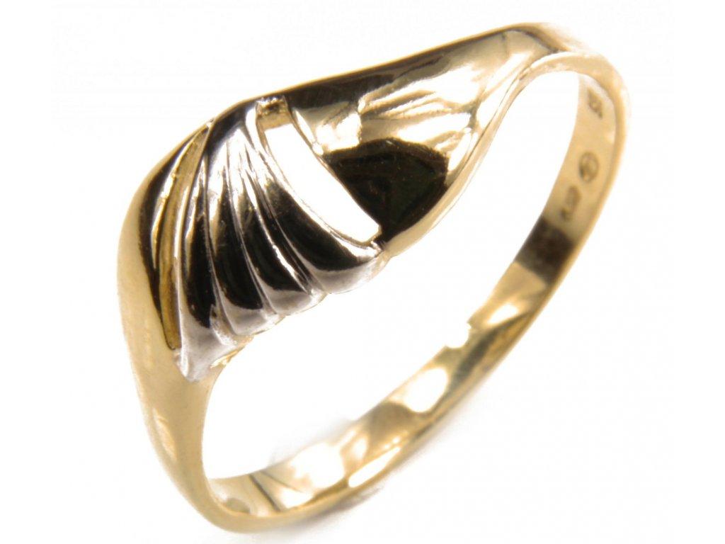Prsten ze žlutého zlata G415