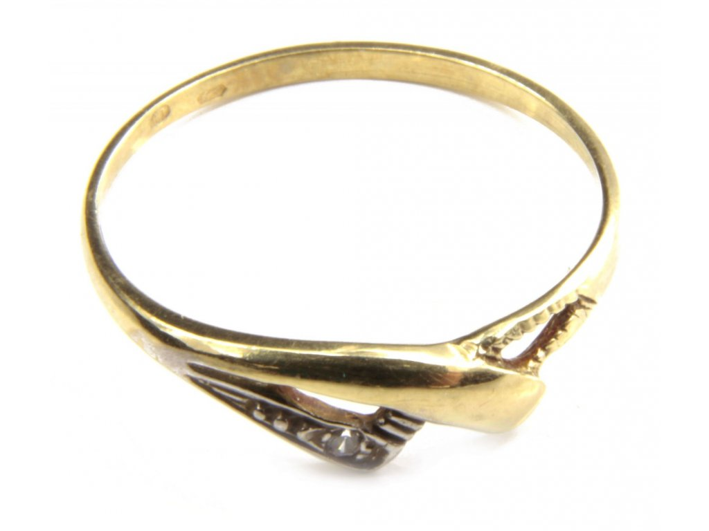 Prsten ze žlutého  zlata  G408