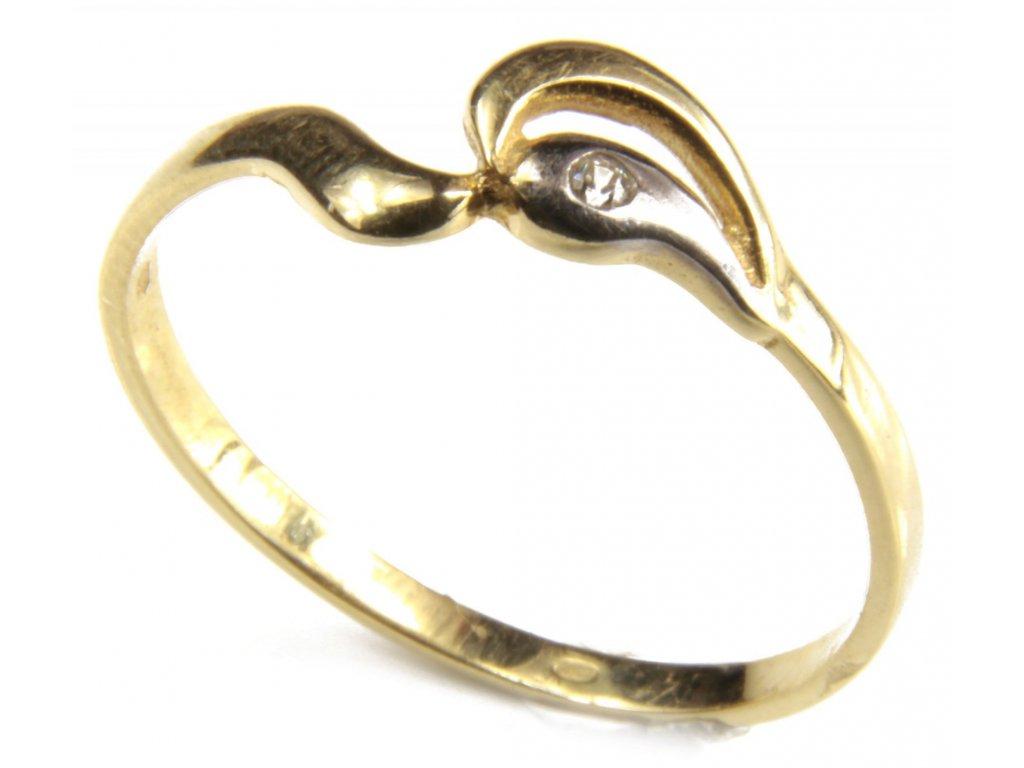 Prsten ze žlutého  zlata G394