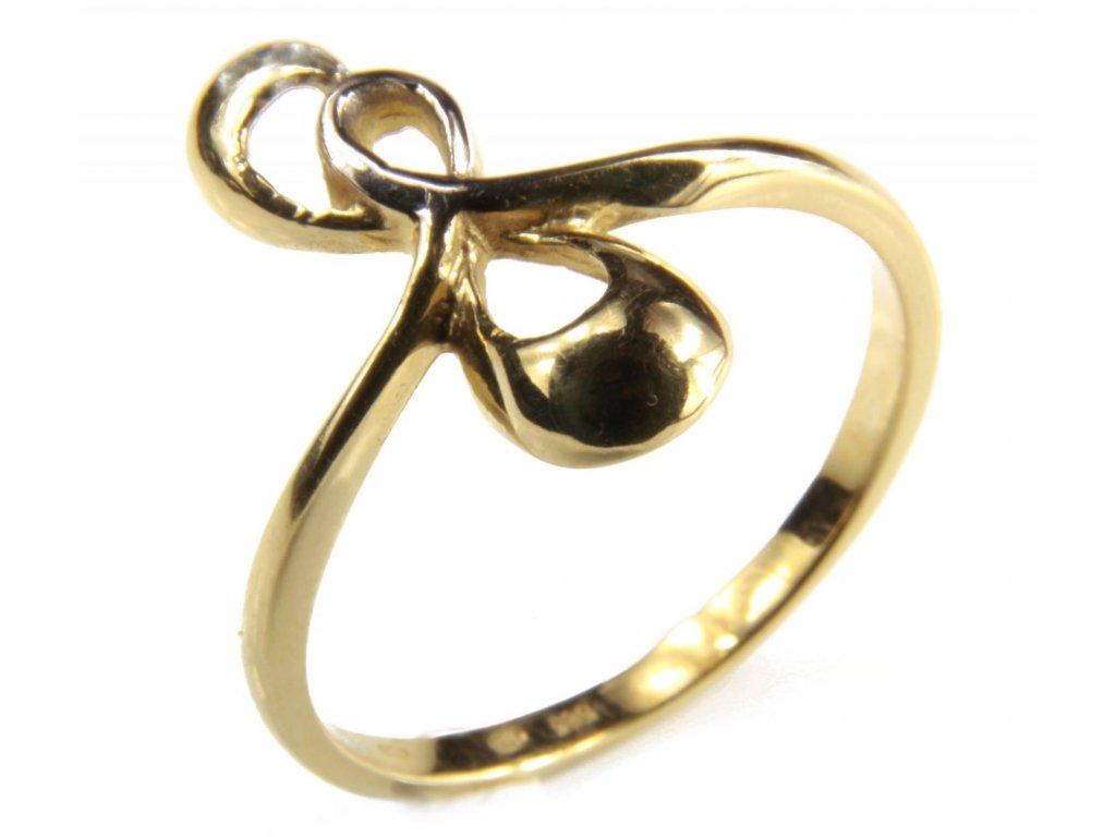 Prsten ze žlutého zlata G445