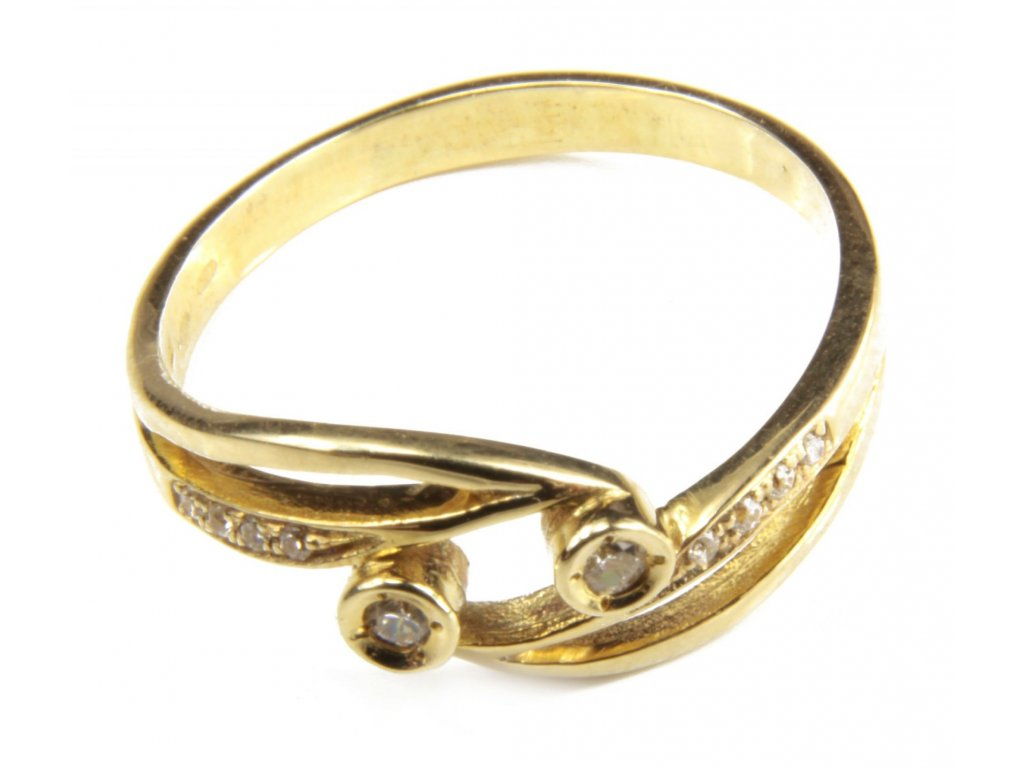 Prsten ze žlutého zlata  G433