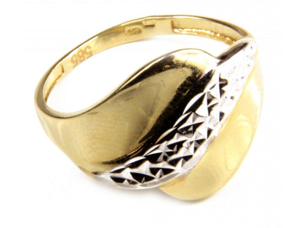 Prsten ze žlutého zlata G444