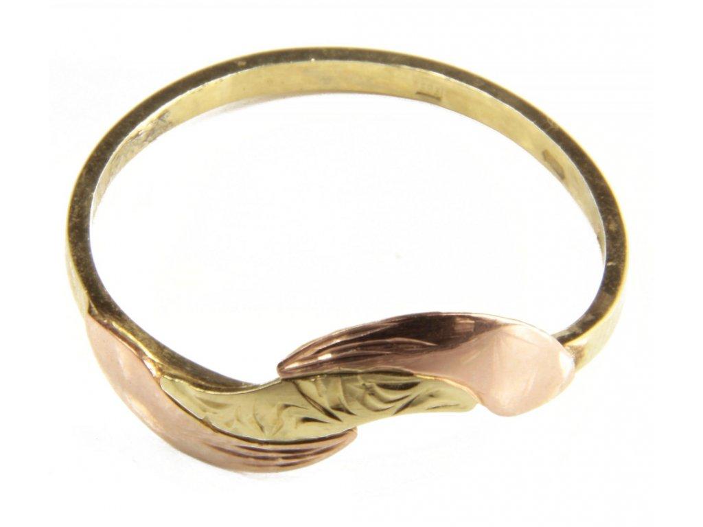 Prsten ze žlutého a červeného zlata G400